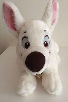 Disney Bolt Movie Stuffed Toy Animal White Plush from Disney Store #Disney