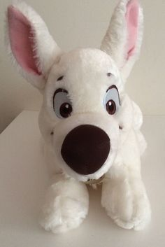 Disney Bolt Movie Stuffed Toy Animal White Plush from Disney Store #Disney