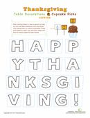 Thanksgiving printables from education.com