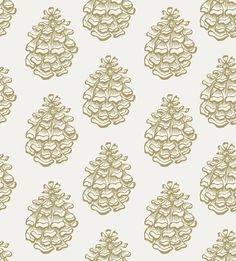Golden Pine Cone print by Katy Hackney licensed surface pattern design in the Craft consortium Winter Woodland book Co Design, Decoupage Paper, Hand Illustration, Pine Cone, Surface Pattern Design, Watercolor Print, Botanical Prints, Scrapbook Paper, Print Patterns