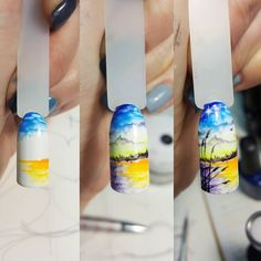 Фотография Edgy Nails, Cute Nails, Monogram Nails, Sharpie Nail Art, Sea Nails, Airbrush Nails, Beautiful Nail Art, Nail Tutorials, Summer Nails