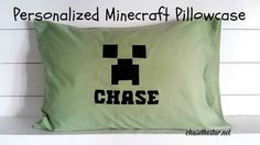 Personalized #Minecraft Pillowcase #ironon #partyfavor #cricut @officialcricut