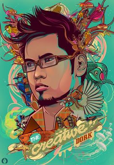 The Creative Dork Vector Portrait Design Artwork