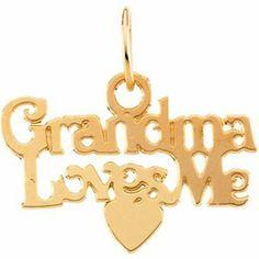 """14K Gold Children's """"Grandma Loves Me"""" Pendant With 15"""" Chain Religious. $108.95"""