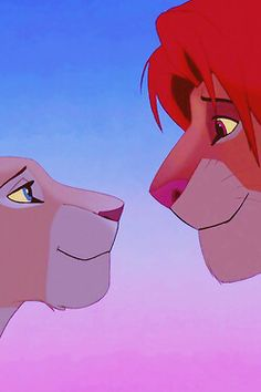 Simba and Nala iPhone wallpaper