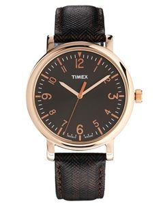 Timex Watch Originals Classic Round Leather Strap
