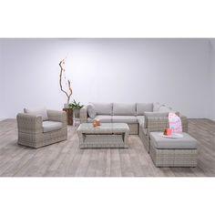 Polyrattan Lounge mit Sessel -MEMPHIS- Versandfreie Lieferung