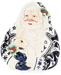 Fitz and Floyd Fitz And Floyd Bristol Holiday Santa Canape Plate