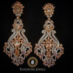 Bridal Jewelry, Gold Jewelry, Jewelery, Jewelry Accessories, Gold Plated Earrings, Diamond Earrings, Drop Earrings, Indian Jewelry, Brooch