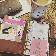 Louis Vuitton agenda via Instagram