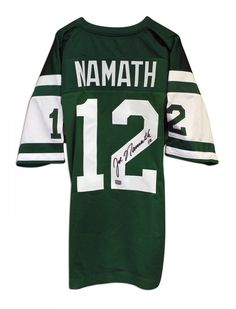 9be8d3169d5 AAA Sports Memorabilia LLC - Joe Namath New York Jets Autographed Green  Throwback Jersey, $432.95