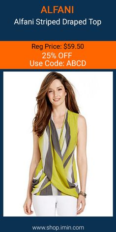 Alfani Striped Draped Top #fashion #I mIn #sale http://www.shop.imin.com/p/Alfani-Striped-Draped-Top/1639565