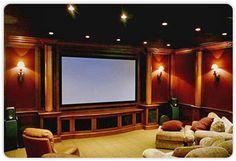 Media Room - built in screen