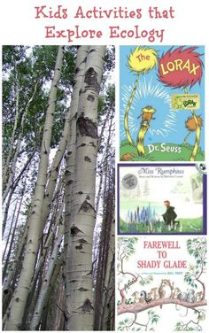 Activities & books that teach kids about ecology and how people can have a positive influence on the environment.