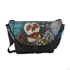 Shop Day Of The Dead Rickshaw Messenger Bag created by LauraBarbosaArt. Pack Your Bags, Shopping Day, Day Of The Dead, Beautiful Bags, Stocking Stuffers, Bag Accessories, Purses And Bags, Diaper Bag, Backpacks