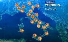 Previsioni Meteo e Almanacco del Giorno di Venerdi 24 Aprile #tempo #meteo #previsioni #almanacco #storia