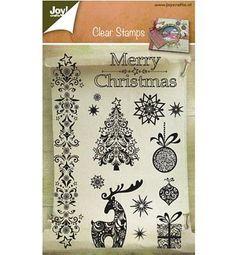 Joy-crafts-Stempel-Christmas-Joy-6410-0127-Clear-Stamps-14-Stueck-Weihnachten