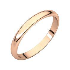 Size 13 Bonyak Jewelry 10k Yellow Gold 2.5 mm Flat Band