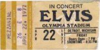 April 22 1977 (8:30 pm). Detroit MI. Olympia Stadium