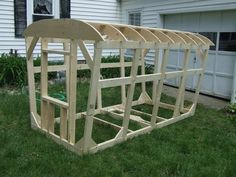 Photo: Lightweight frame for cabin