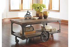 Gray & Brown Vennilux Coffee Table by Ashley HomeStore