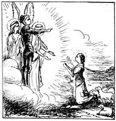 Les voix de Sainte Jeanne d'Arc : Saint Michel, Sainte Catherine et Sainte Marguerite