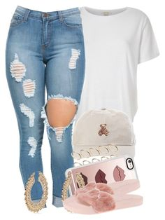 A fashion look from May 2016 featuring white t shirt, high-waisted jeans and puma sandals. Browse and shop related looks. Swag Outfits, Dope Outfits, Urban Outfits, Casual Outfits, Summer Outfits, Girly Outfits, Urban Fashion, Teen Fashion, Fashion Outfits
