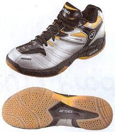 Yonex Power Cushion SC3 Men Badminton Shoes-silver/yellow Yonex. $89.95