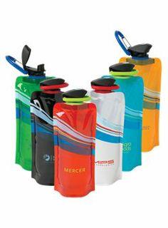 Starline - 32772 - SV99PE - 24 oz Bouteille d'eau pliable Cool Wave-    • bouteille d'eau réutilisable sans BPA et conforme à la FDA     • Can standevient rigide lorsque remplie et peut se rouler ou s'aplatir lorsque vide, ce qui la rend facile à transporter partout.     • Elle offre un couvercle rabattable vissable et une grande ouverture pour y insérer de la glace et pour la nettoyer facilement.      http://www.creatchmanpromo.ca/