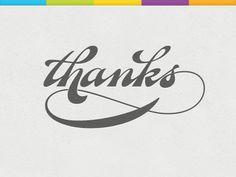 I Love Ligatures / Thanks by Daniel Waldron #typography #ligatures #thanks