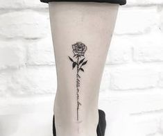 Uploaded by . Find images and videos about beautiful, tattoo and rose on We Heart It - the app to get lost in what you love. Rose Bud Tattoo, Rose Tattoo With Name, Heart Tattoos With Names, Name Tattoos On Wrist, Wrist Tattoos For Men, Rose Heart Tattoo, Dainty Tattoos, Feminine Tattoos, Mom Tattoos