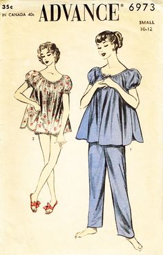 Baby Nightgown, Vintage Nightgown, Sewing Lingerie, Retro Lingerie, Baby Doll Pajamas, Baby Dolls, Vintage Sewing Patterns, Clothing Patterns, Classic Lingerie
