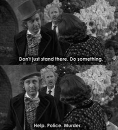 Wonka, classic sarcasm