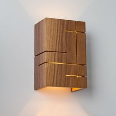 The Claudo LED Wall Sconce by Cerno is neatly defined lamp that illuminates the room with the help of a fitted LED light source. Wood Sconce, Rustic Wall Sconces, Modern Wall Sconces, Candle Wall Sconces, Wall Sconce Lighting, Led Wall Lamp, Bedside Lighting, Bedside Lamp, Wooden Lamp