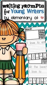 This product includes:21 writing prompts that can be used from Aug/Sept-June.- Includes a traceable sentence starter- Includes a larger area to draw a picture to match their writing- Includes a writer's checklist on every worksheet- Includes themed vocabulary terms to help boost young writer's confidence when learning how to spell.- Perfect for writing centers- Easy to use for littler learners
