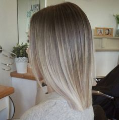 A Beautiful cool toned Color - Blunt Lob Hair Styles More