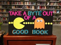 So many very cute library decorating ideas here.