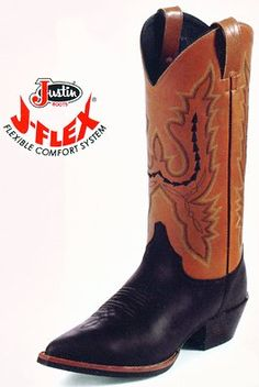 "$107.95 Justin Black/Tan Garment Boot, Size 8C - LEATHER:  	COWHIDE  TOE:  	J2  or Narrow Round toe  HEEL:  	UNIT  HEIGHT:  	13""  WELT:  	SINGLE STITCHED   INSOLE:  	J-FLEX® COMFORT SYSTEM  OUTSOLE:  	DECORATIVE FLORAL RUBBER http://www.amazon.com/dp/B001TZAUL4/?tag=icypnt-20"