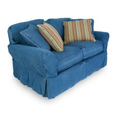 1000 images about denim sectionals on pinterest denim for Small sectional sofa denim
