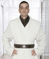 Obi-Wan Kenobi Adult Mens Replica and Fancy Dress Costumes, Cosplay Belts, Fancy Dress Boots, and Lightsabers. Available at Jedi Robe America Jedi Costume, Cosplay Costumes, Fancy Dress Outfits, White Outfits, Kylo Ren Boots, Obi Wan Kenobi Costume, Han Solo Belt, Star Wars Fancy Dress, Jedi Outfit