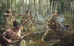 iwo jima art prints world war II | Battle of Iwo Jima World War II Painings, Art Wallpaper