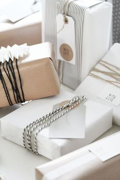 Kraft paper (brown) with black & white stripe accents. Branding | Packaging | Gift | Invitation | Tag