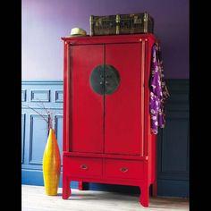 Armario de matrimonio rojo - Shanghaï Shanghaï | Maisons du Monde