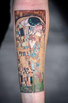 http://tattoo-ideas.us/wp-content/uploads/2014/04/Gustav-Klimt-Tattoo.jpg Gustav Klimt Tattoo #Armtattoos