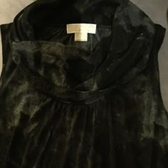 """Michael Kors top Sleeveless, generous cowl neck top. Black and gray wash """"tie-dye """"effect. Slightly ruched bottom front.100% lyocell .Feels like a cotton blend. Michael Kors Tops Blouses"""