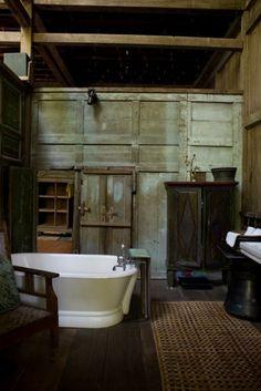 Rustic Bathroom, photo by. Italian Farmhouse, Italian Home, Rustic Italian, Interior Decorating, Interior Design, Cottage Homes, My Dream Home, House Design, Bathing
