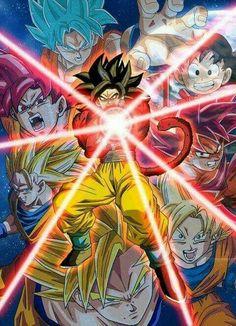 The evolution of Goku #dbz #dragoball #goku