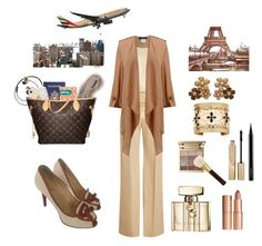 """""""New York to Paris"""" by leaff88 ❤ liked on Polyvore featuring Louis Vuitton, Burberry, BLVD Supply, Luli Fama, Aurélie Bidermann, Gucci, Charlotte Tilbury, Stila, MAC Cosmetics and Tom Ford"""