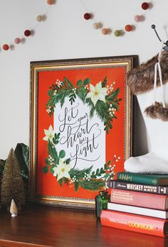 Lily & Val – Let Your Heart Be Light - Print - Holiday - Christmas - Winter Decor Diy Christmas Decorations For Home, Winter Home Decor, Christmas Art, Christmas Holidays, Holiday Decorating, Happy Holidays, Letter Bead Bracelets, Lily And Val, Be Light