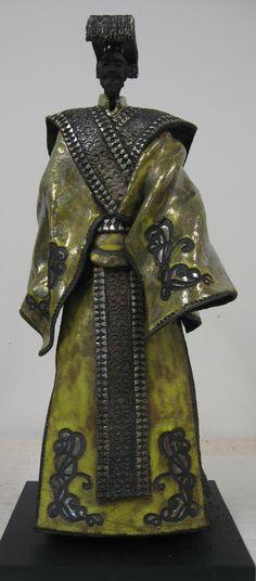 Paul BECKRICH, Zhen Ying, 55 cm, raku